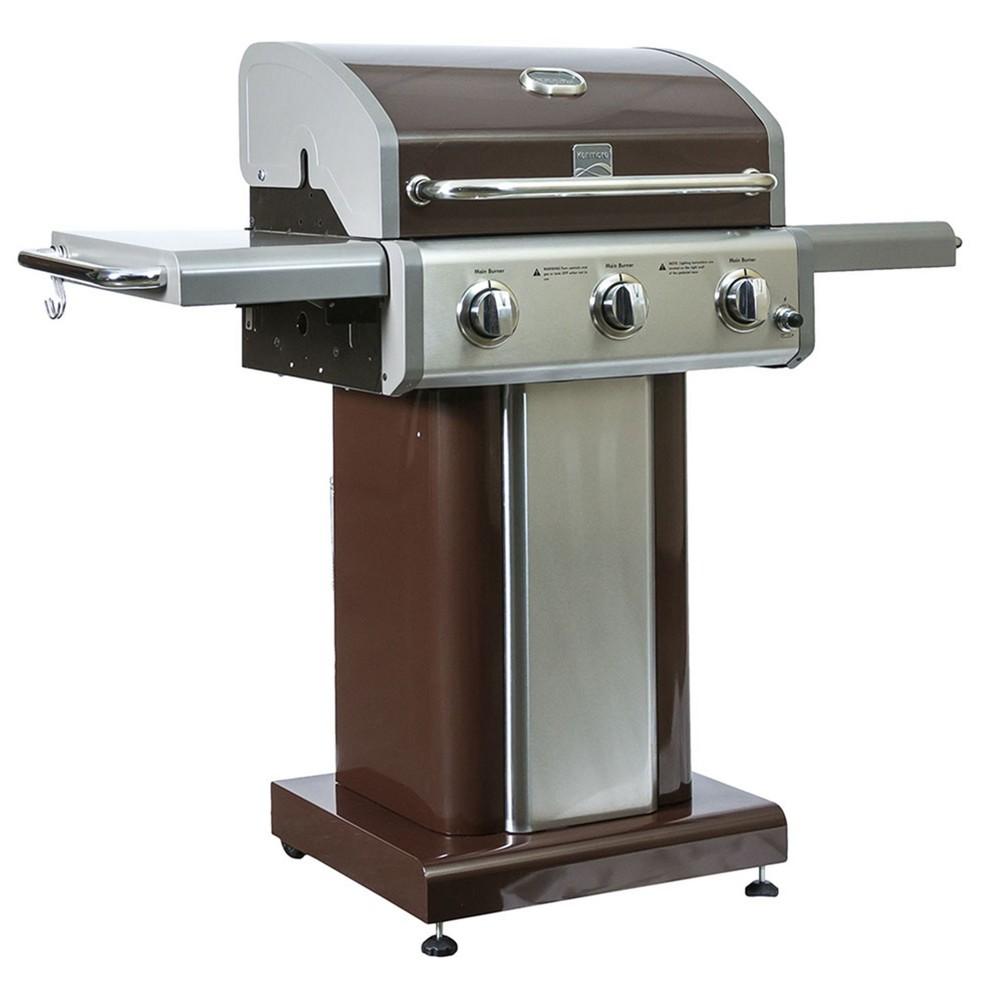 Image of Kenmore 3-Burner Pedestal Gas Grill PG-4030400 Brown