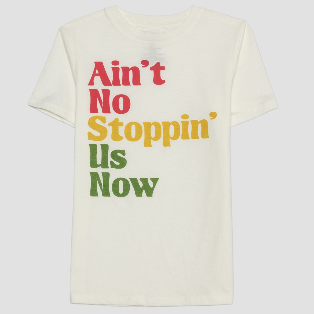 Lyric Culture Kids' Short Sleeve Ain't No Stoppin' Us Now T-Shirt - Light Milk White S, Kids Unisex, Beige