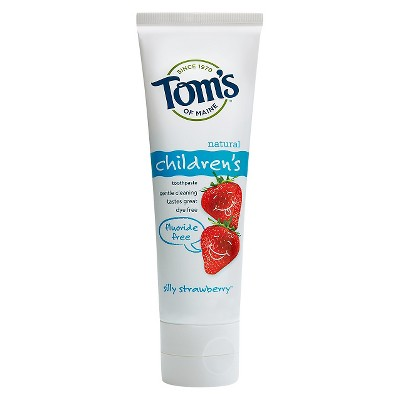 Tom's of Maine® Silly Strawberry Fluoride Free Natural Kids Toothpaste - 4.2oz