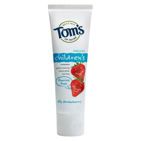 Tom's of Maine® Silly Strawberry Fluoride Free Natural Kids Toothpaste - 4.2oz - image 1 of 1