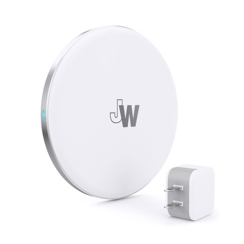 Just Wireless 5w Qi Wireless Charging Pad With Wall Adapter Included White Target