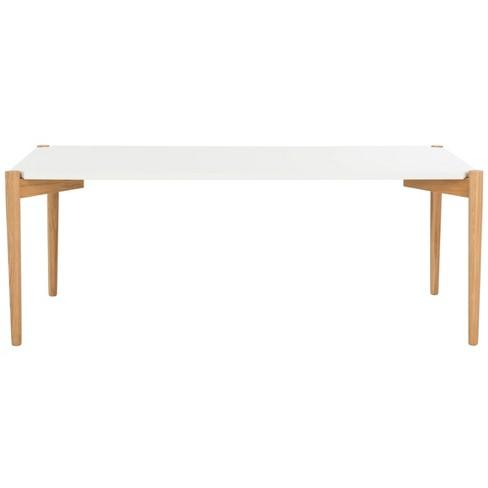Rue Rectangle Coffee Table - White / Oak - Safavieh - image 1 of 4