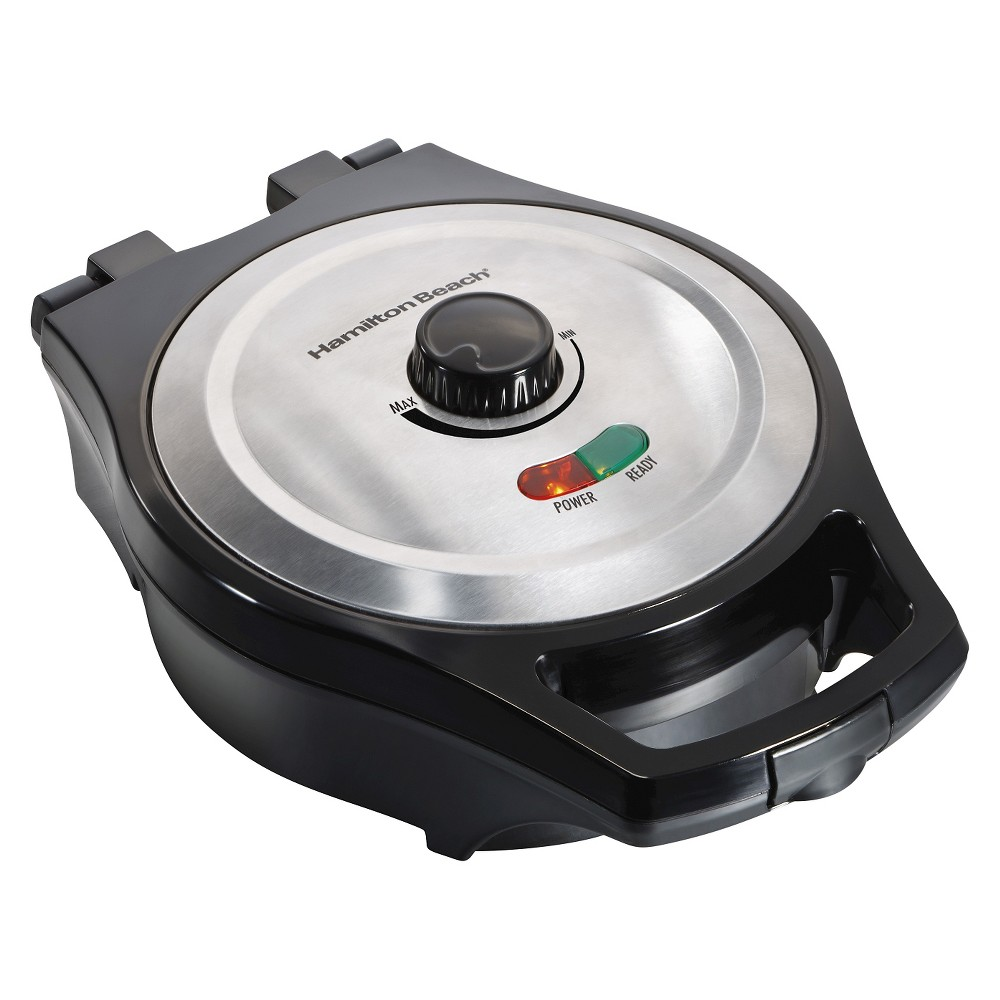 Hamilton Beach Mess-Free Belgian Waffle Maker, Silver Hamilton Beach Mess Free Belgian Style Waffle Maker - 26042 Color: Stainless Steel.