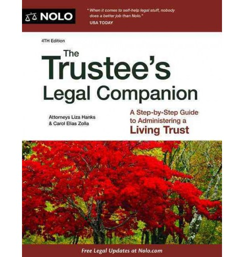 Trustee's Legal Companion -  by Liza Hanks & Carol Elias Zolla (Paperback) - image 1 of 1