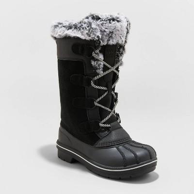 Girls' Carmen Lace-Up Winter Boots - Cat & Jack™ Black