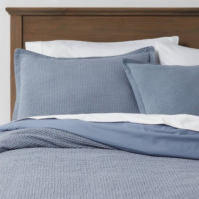 Washed Waffle Weave Duvet Cover & Sham Set - Threshold™