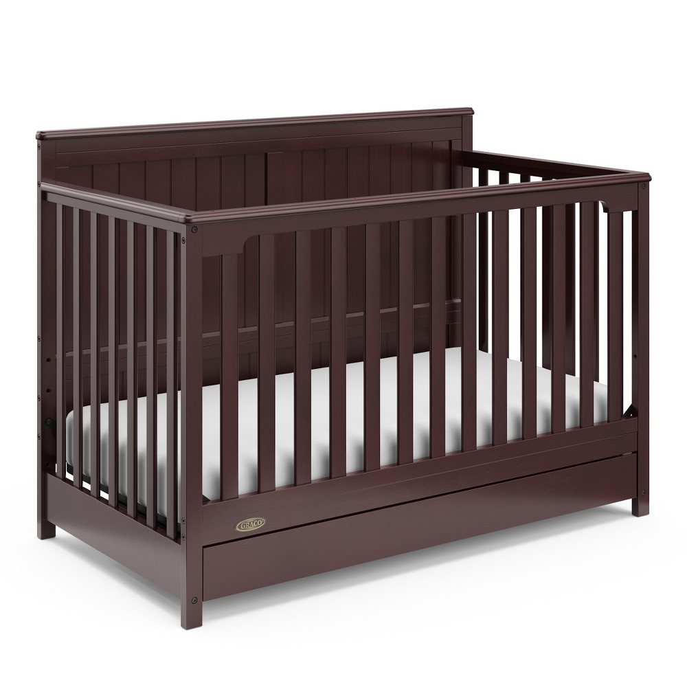Graco Hadley 4-in-1 Convertible Crib with Drawer - Espresso (Brown)