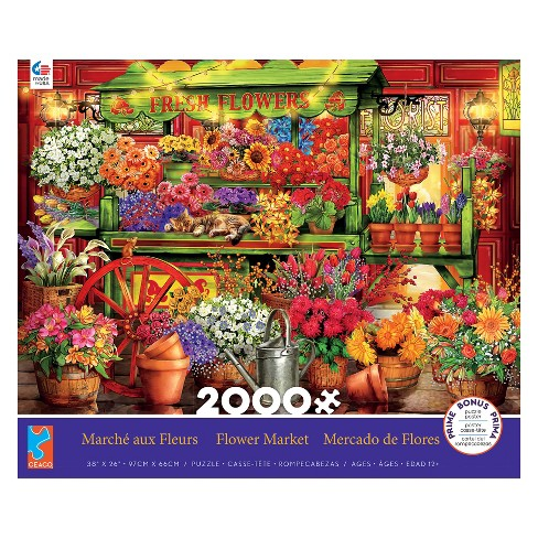 Ceaco 2000pc Flower Market Puzzle - image 1 of 1
