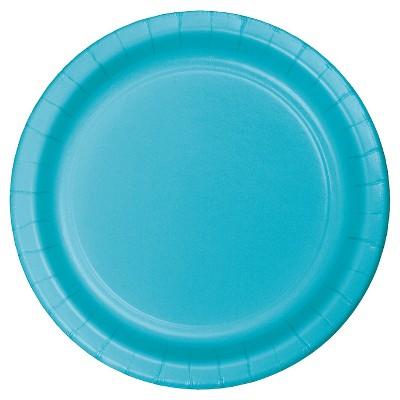 "Bermuda Blue 9"" Paper Plates - 24ct"