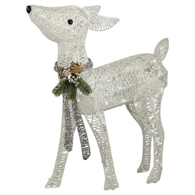 Philips 24.5  Christmas LED Lit Twinkling Glitter String Fawn - Pure White