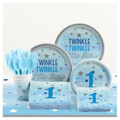 One Little Star Boy 1st Birthday Party Supplies Kit