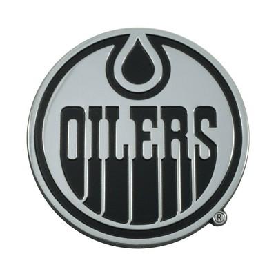 NHL Edmonton Oilers 3D Chrome Metal Emblem