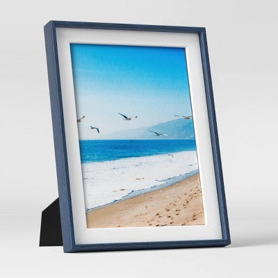 """5"""" x 7"""" Slanted Step Picture Frame Navy/White - Room Essentials™"""