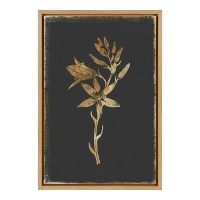 "16"" x 23"" Carmass and Wild Hyacinth Framed Canvas Wall Art - Amanti Art"
