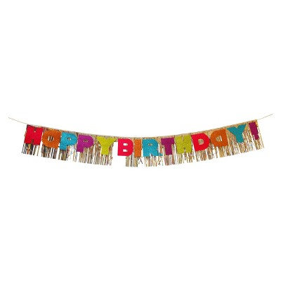 """Happy Birthday"" Banner with Glitter - Spritz™"
