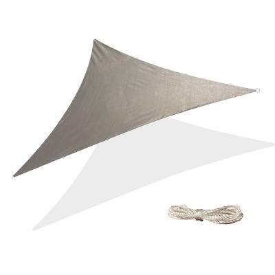 10' x 10' Triangle Sun Shade Sail - Gray - Backyard Expressions