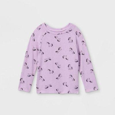 Toddler Girls' Unicorn Cozy Long Sleeve T-Shirt - Cat & Jack™ Violet