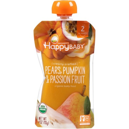 Happy Baby Clearly Crafted S2 Pear Pumpkin Passion Fruit 4oz - image 1 of 4