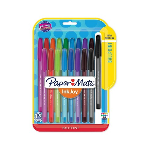 18pk Ballpoint Pens Capped InkJoy 100ST 1.0mm Multicolored - PaperMate - image 1 of 4