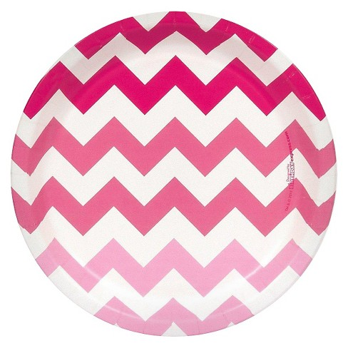 Pink Chevron Tableware Party Kit - image 1 of 7