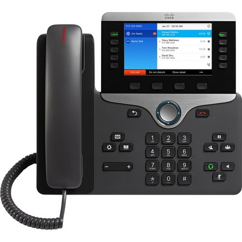 Cisco 8841 IP Phone - Wall Mountable - VoIP - Caller ID - image 1 of 4