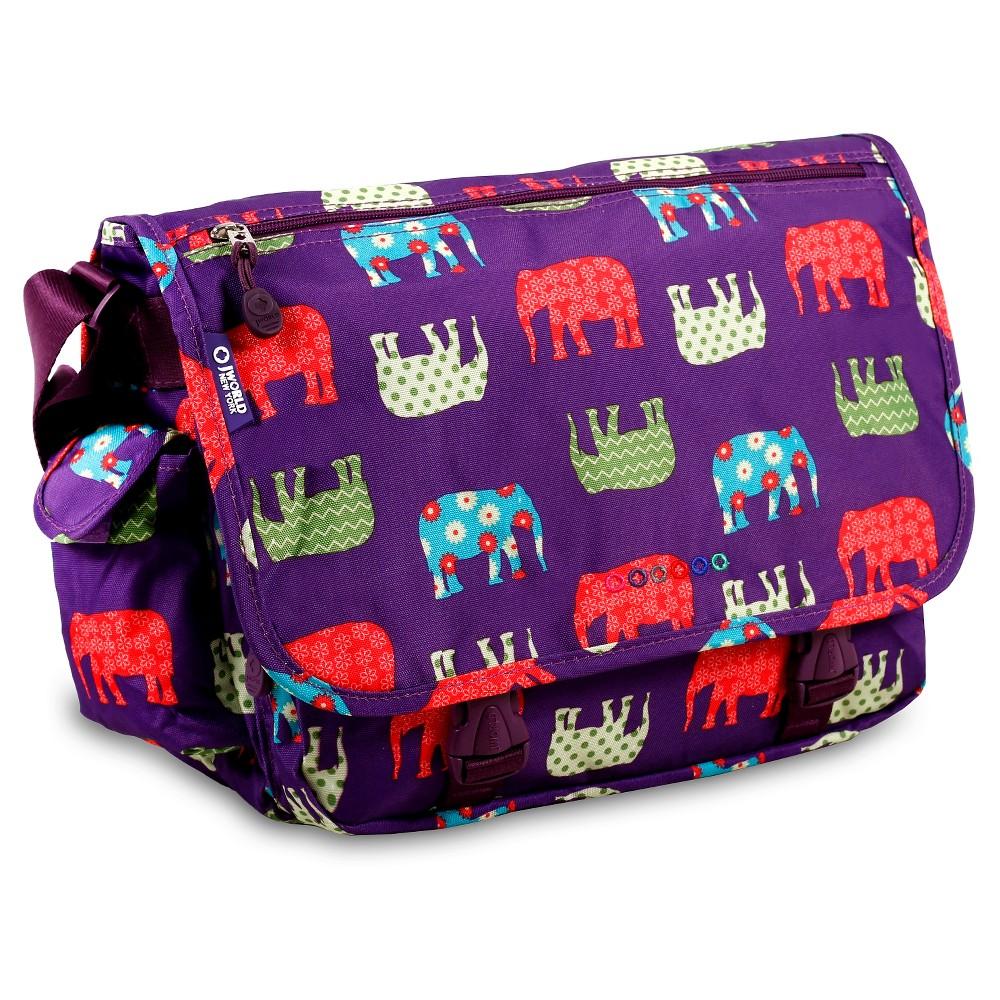 J World Terry Messenger Bag - Elephant, Purple