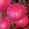 "5ct 10"" Fuchsia Round Paper Lanterns - image 3 of 3"