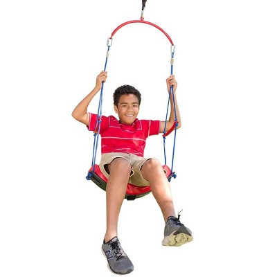 """HearthSong - 2-in-1 BungeeBounce Tree Swing for Kids with Hanging Rings, 64""""L x 24""""W, Holds Up To 115 lbs."""