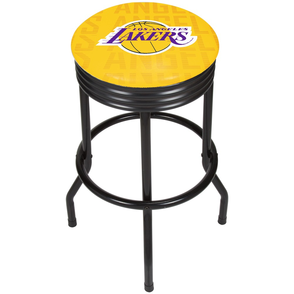 NBA Los Angeles Lakers City Ribbed Bar Stool - Black