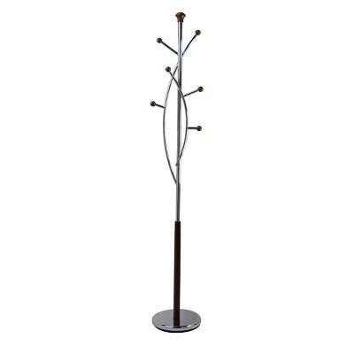 Proman Products Silver Tree Coat Rack Walnut