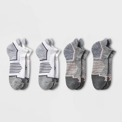 Women's Active Accents Cushioned 4pk No Show Tab Athletic Socks - All in Motion™ 4-10
