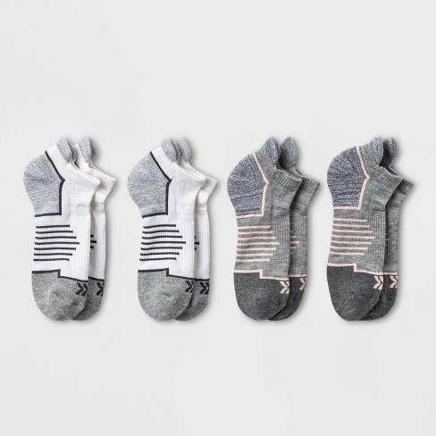Women's Active Accents Cushioned 4pk No Show Tab Athletic Socks - All in Motion™ 4-10 - image 1 of 3