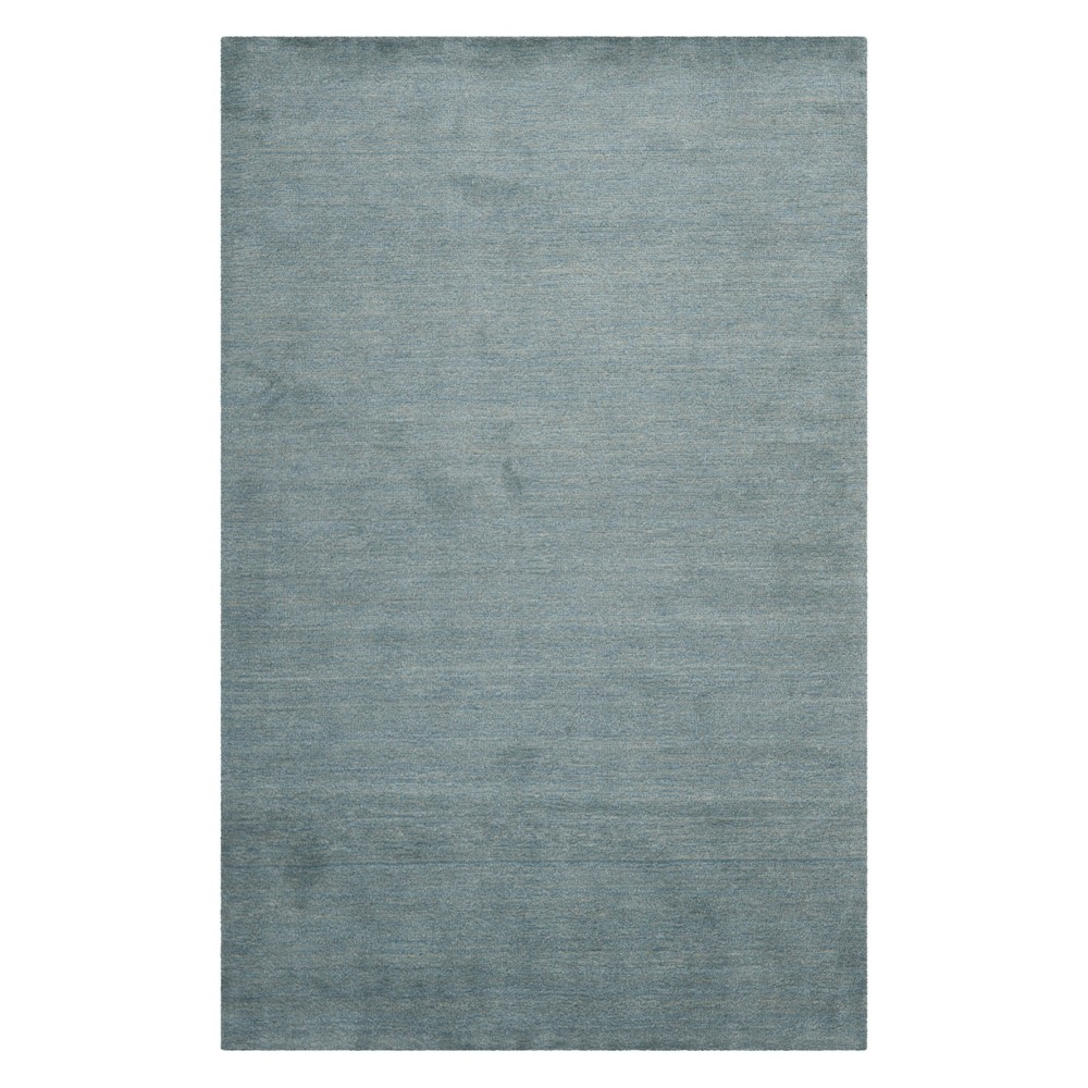 Solid Loomed Area Rug Blue