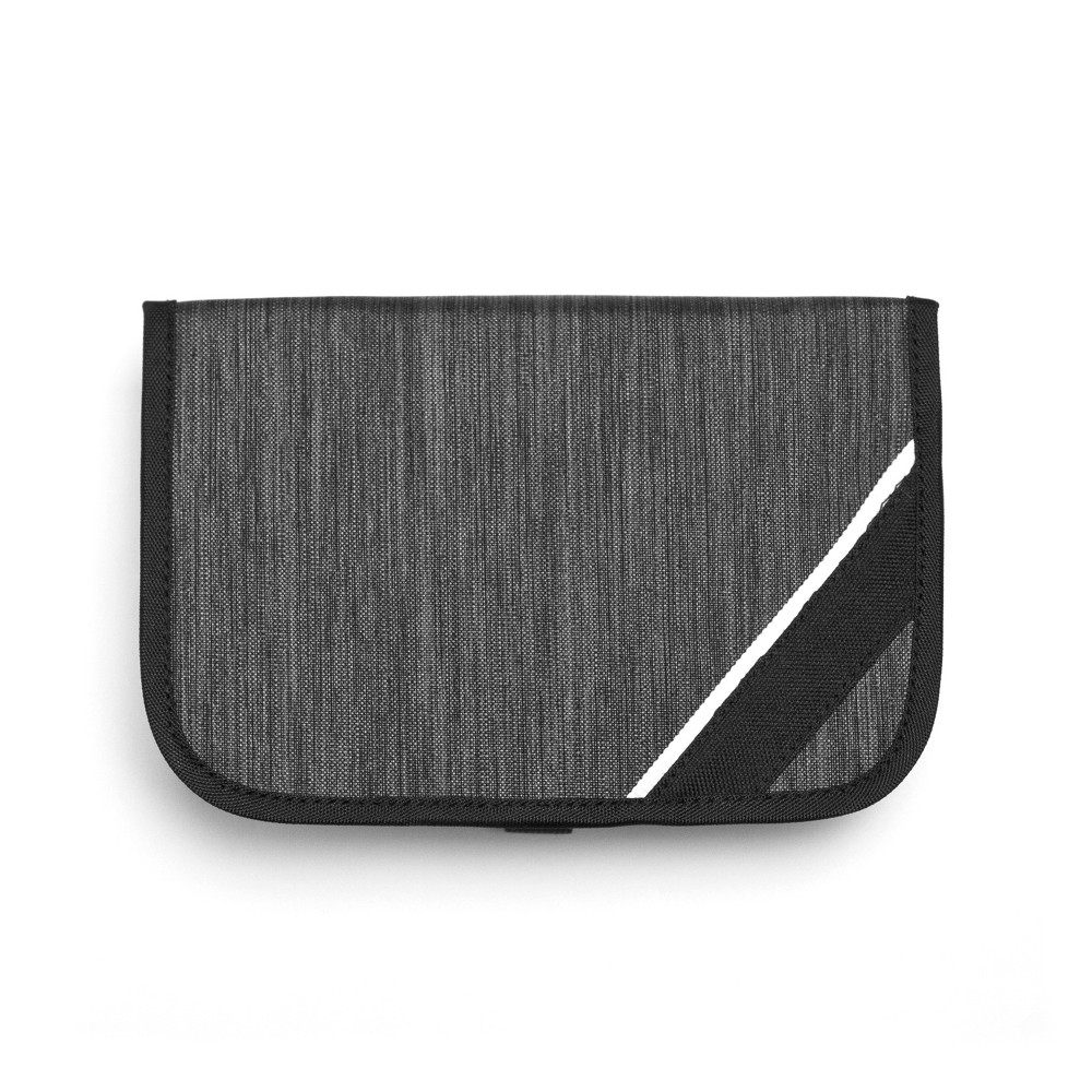 Porte Play Cable Travel Case - Gray This sleek organizer looks at home next to the newest devices and will keep your cords and other electronic accessories organized and protected. It opens like a book, revealing multiple pockets and loops to hold cords, earbuds, flash drives and more. Color: Gray.
