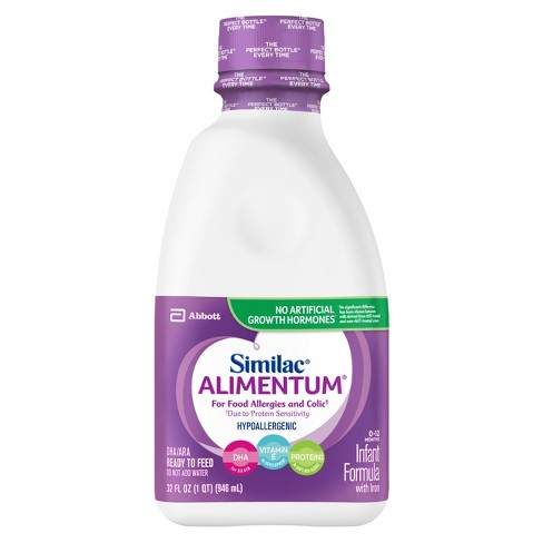 Similac Alimentum Hypoallergenic For Food Allergies and Colic Infant Formula Ready-to-Feed - 32 fl oz - image 1 of 4