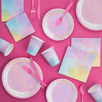"Iridescent ""Happy Birthday"" Party Kit"