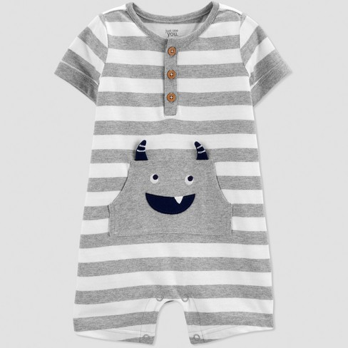 29c8e50f7ab0 Baby Boys  Stripe Monster Romper - Just One You® Made By Carter s ...