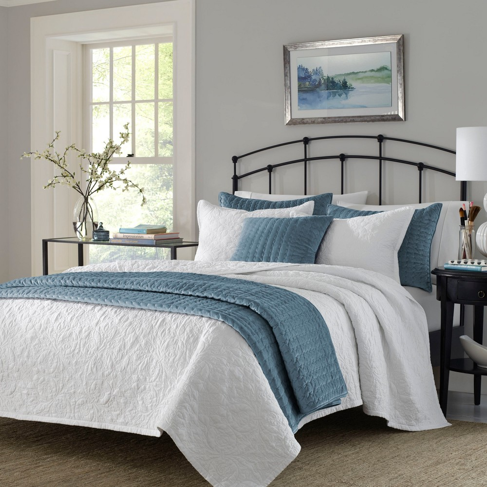 Twin Burch Quilt Set White - Stone Cottage
