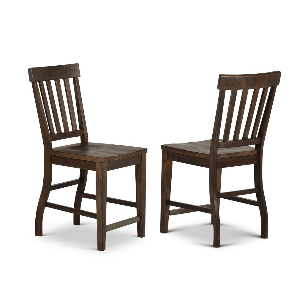 Cayla Counter Chair Dark Oak (Set of 2)- Steve Silver