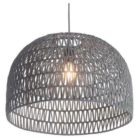 "Modern 21"" Gray Dome Shaped Ceiling Lamp - ZM Home - image 1 of 2"