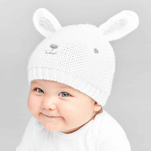Baby Crochet Bunny Cap - Just One You® made by carter's White One Size - image 1 of 2