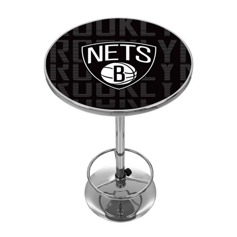 0594c7a6bd8d NBA Brooklyn Nets City Chrome Pub Table   Target
