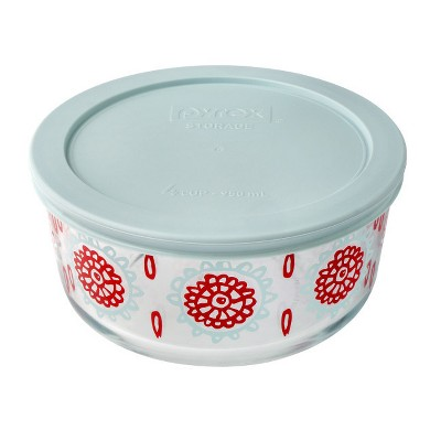 Pyrex Storage Round Container 4 cup Blue