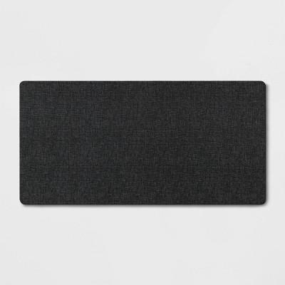 "40"" x 20"" Neoprene Comfort Kitchen Rug Black - Threshold™"