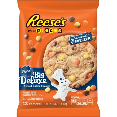 Pillsbury Ready to Bake Cookie Reeses Mini Pieces - 16oz/12ct - image 1 of 1