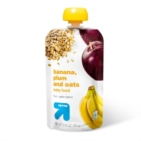 Stage 2 Banana Plum & Oats Baby Food Pouch - 3.5oz - up & up™ - image 1 of 3