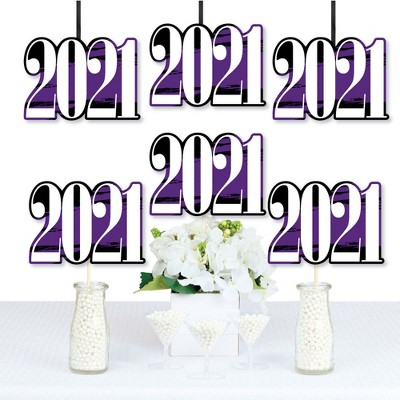 Big Dot of Happiness Purple Grad 2021 - Best is Yet to Come - 2021 Decorations DIY Purple Graduation Party Essentials - Set of 20