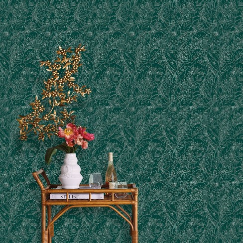 Jungle Animals Peel Stick Wallpaper Green Opalhouse Target