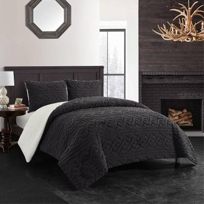 Turner Cable Knit Comforter Set - Dearfoams