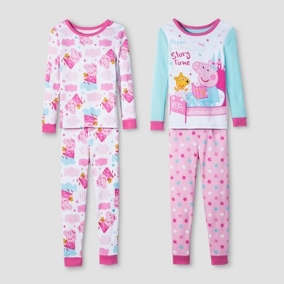 Toddler Girls' Peppa Pig Pajama Set - Pink 5T